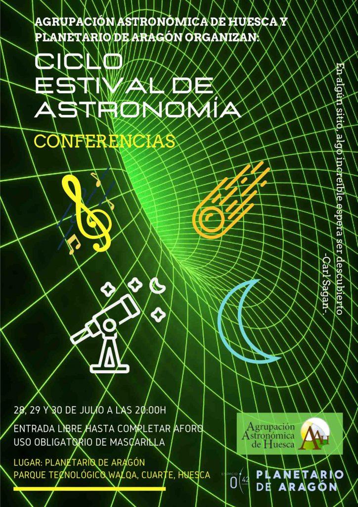 cartel CICLO ESTIVAL DE ASTRONOMÍA