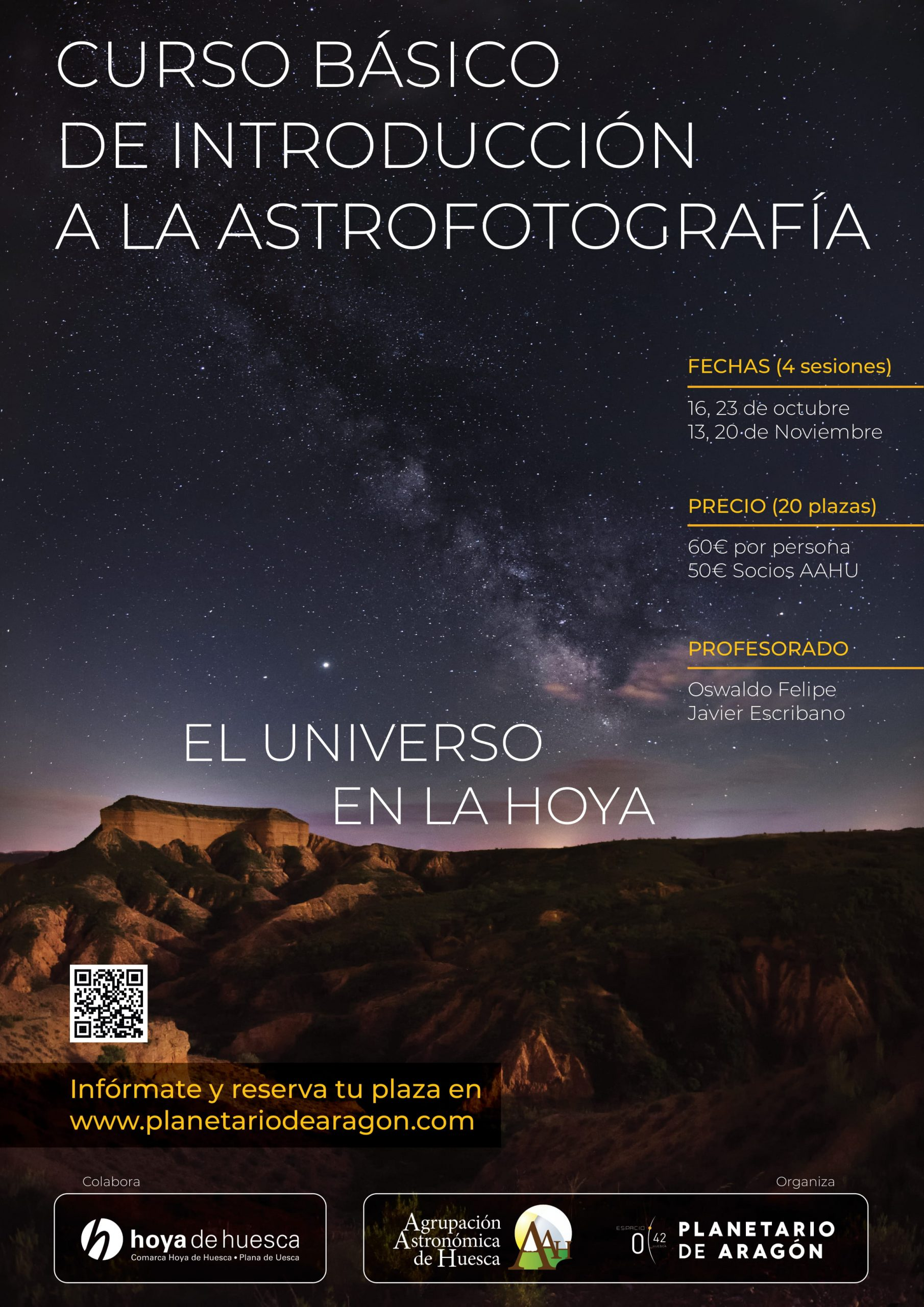 Cartel curso de astrofotografía