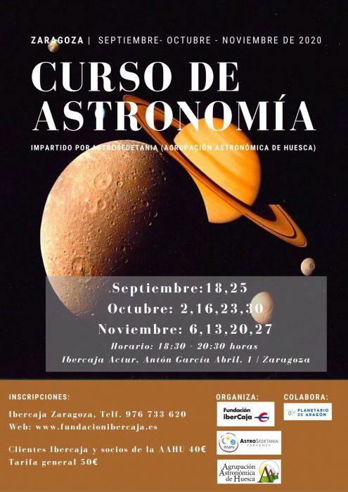 Cartel curso astronomia
